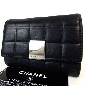 AUTH CHANEL CHOCO BAR SIX HOOKS 7282495 KEY HOLDER